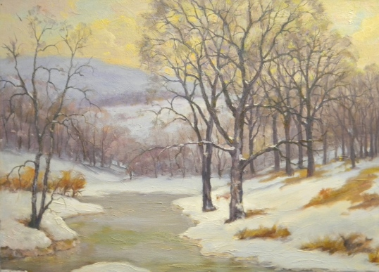 Winter Scene Painted from Life